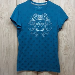 HARD ROCK CAFE Blue and White Tshirt